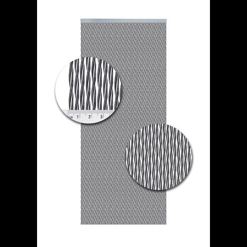 Vliegengordijnencenter.nl Deurgordijn PVC Monza zwart-zilver