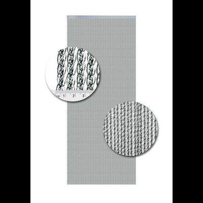 Deurgordijn PVC Venetie Zilver