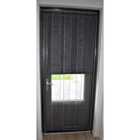 Lamellen hor - Zwart - 100x250 cm
