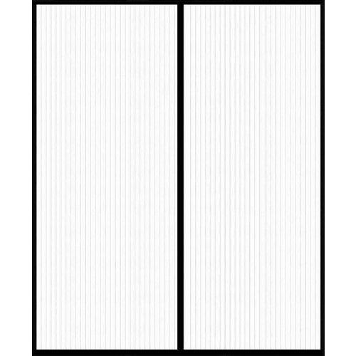 Magnetisch Deurgordijn dubbel openslaande deur  - Zwart