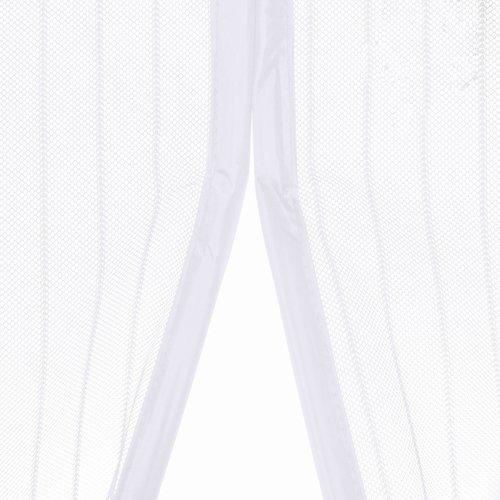 Magnetisch Deurgordijn dubbel openslaande deur  - Wit