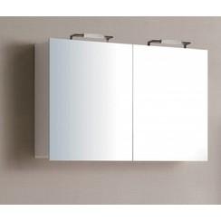 Niagara spiegelkast 100x75x15cm hoogglans wit