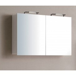 Niagara spiegelkast 120x75x15cm hoogglans wit
