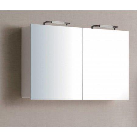Sem Sem Niagara spiegelkast 120x75x15cm hoogglans wit