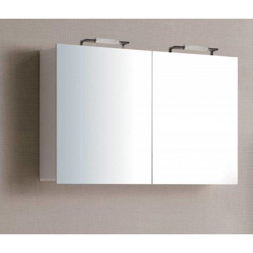 Sem Niagara spiegelkast 120x75x15cm hoogglans wit