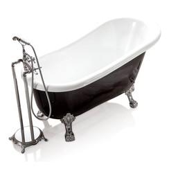 Largo vrijstaand bad 150x75x77cm zwart/wit