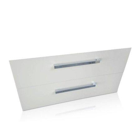 Sem Sem Jura badmeubelonderkast 90x46cm hoogglans wit met softclosing laden