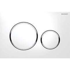 Sigma20 bedieningsplaat wit met glansverchroomde designringen