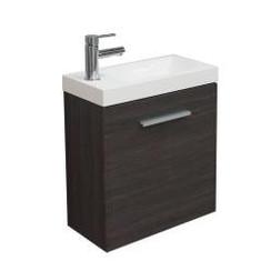 Emma fonteinkastje + wastafel 500x250x500 houtnerf grijs