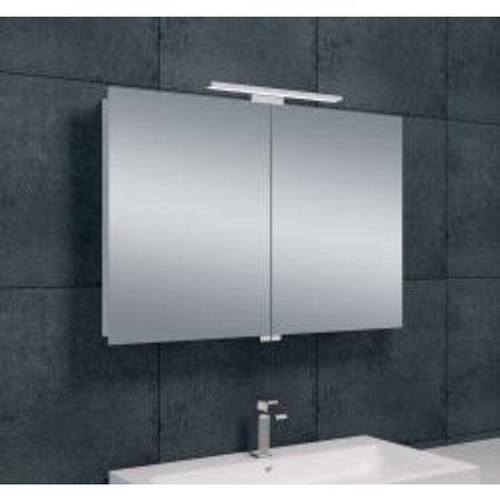 Wiesbaden Luxe spiegelkast +Led verlichting 90x60x14cm - Badkamer & Co