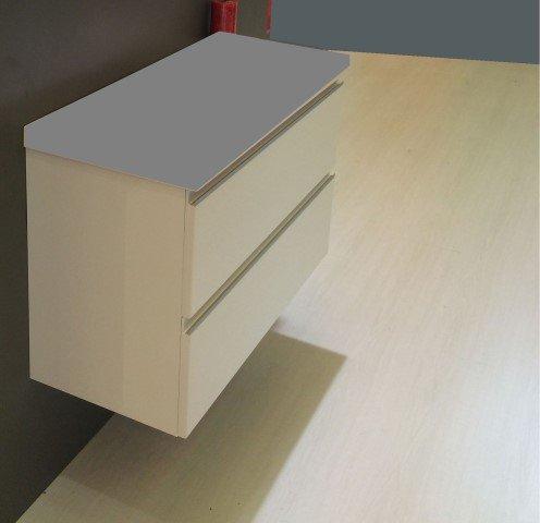 Wiesbaden onderkast 100cmx36cm zonder wastafel wit - Badkamer & Co