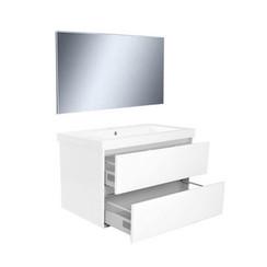 Vision meubelset met spiegel 80 cm wit