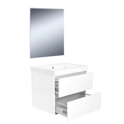 Vision meubelset met spiegel 60 cm wit