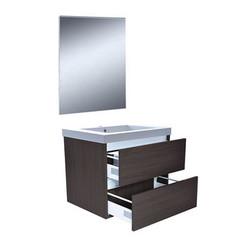Vision meubelset met spiegel 60 cm houtnerf grijs