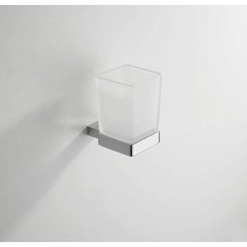 Wiesbaden Eris glashouder met glas chroom