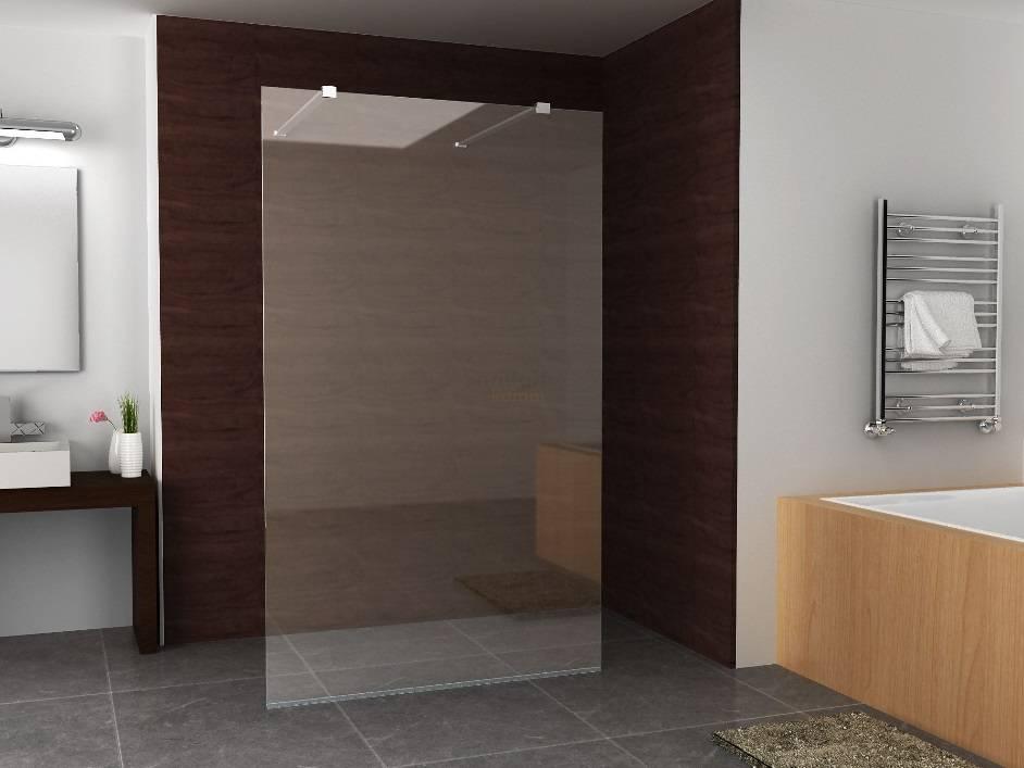Inloopdouche Met Douchepaneel : Wiesbaden inloopdouche vrijstaand 1400x2000 8mm nano glas badkamer