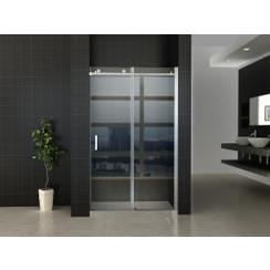 schuifbare nisdeur 2-deuren 110x200 chroom