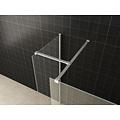 Wiesbaden inloopdouche combinatie-set 1200x900x2000 10mm nano