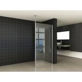 Wiesbaden set verticale stabilisatiestang+plafond bevestiging chroom 10mm glas