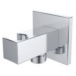 luxe muur doucheaansluiting+opsteek vierkant