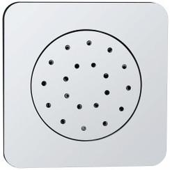 inbouw verstelbare zijdouche vierkant 135x135 abs chroom