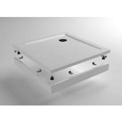 voorzetpaneel + poten tbv vierkante douchebak acryl 90x90x4cm wit