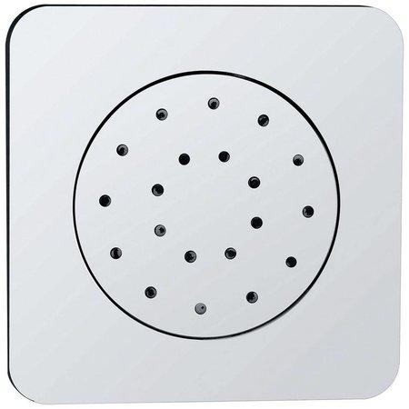 Wiesbaden Wiesbaden inbouw doucheset met thermostaat en regendouche 20 cm met zijdouche vierkant chroom