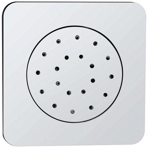Wiesbaden inbouw doucheset met thermostaat en regendouche 20 cm met zijdouche vierkant chroom