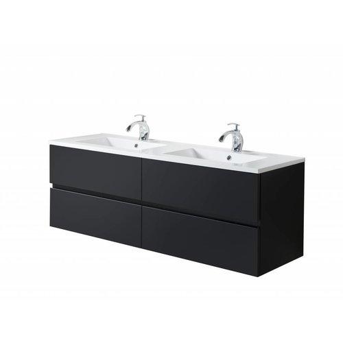 Sem Makalu badkamermeubel 150x46cm mat zwart 4 softclosing laden