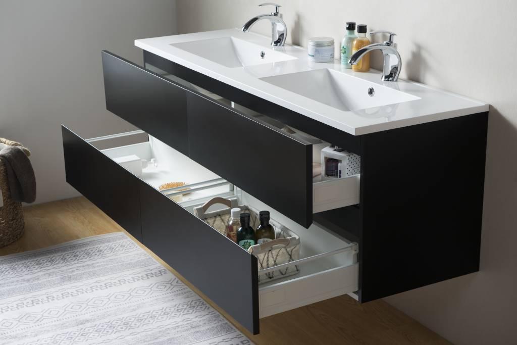 Badkamermeubel Met Kommen : Sem makalu badkamermeubel cm antraciet zwart met