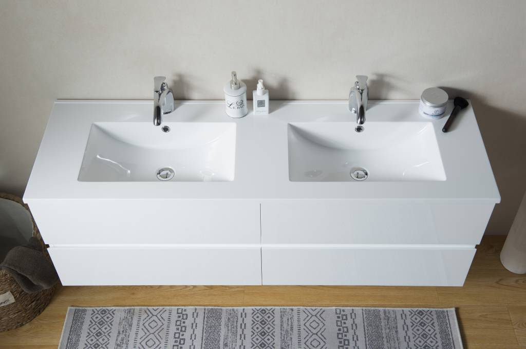 Badkamermeubel Met Kommen : Sem makalu badkamermeubel cm hoogglans wit met softclosing