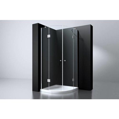 Best Design Erico 1/4 rond cabine 2 deuren 100x100x192cm nano glas 8mm