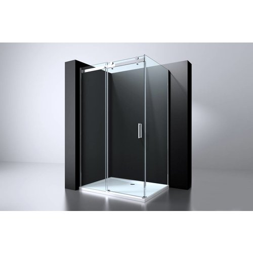 Best Design Erico schuifdeur & wand 90x117-118,5x200cm