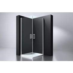 Erico vierkante cabine 90x90x192cm 2 deuren nano glas 6mm