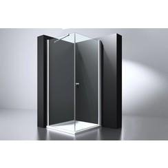 Erico vierkante cabine 100x100x200cm met 1 swing deur nano glas 6mm