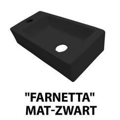 fontein Farnetta links 37x18x9cm mat-zwart