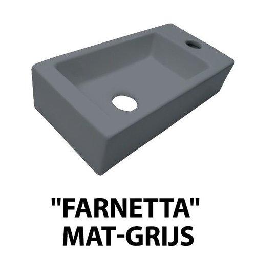 Best Design fontein Farnetta rechts 37x18x9cm mat-grijs