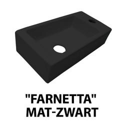 fontein Farnetta rechts 37x18x9cm mat-zwart