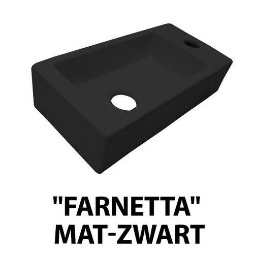 Best Design fontein Farnetta rechts 37x18x9cm mat-zwart