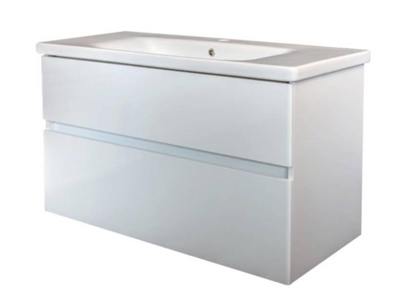Afmetingen Wastafel Badkamer : Best design quick greeploos meubel onderkast wastafel cm glans