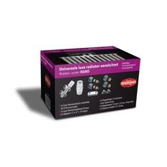 universele luxe radiator-aansluitset midden-onder-haaks (ds-paars)