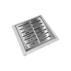 doucheput n-square met-flens 15x15x7.7cm