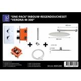Best Design One-pack inbouw-regendoucheset Verona-m-300