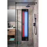 Xenz Feel Good Shower UV en  infrarood aluminium zwart