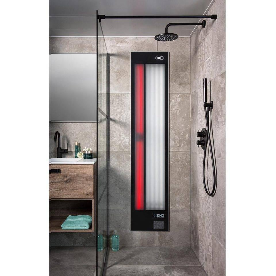 Xenz Feel Good Shower Uv En Infrarood Aluminium Zwart