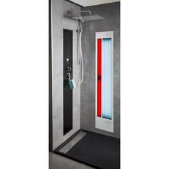 Feel Good Shower UV en  infrarood aluminium wit