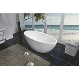 Wiesbaden Oval acryl vrijstaand bad 170x78x60cm mat wit