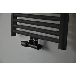 Riko thermostatisch 3/4 onderblok haaks-links mat-zwart