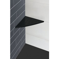 InWall hoekplanchet 29x29 mat-zwart