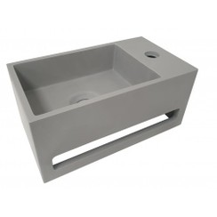 Julia fontein Solid Surface 35 x 20 x 16 cm betonlook rechts